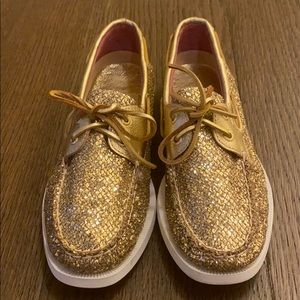 Sperry top-sider gold shoes